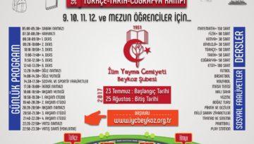 YATILI MATEMATİK-FEN  VE SOSYAL KAMPI